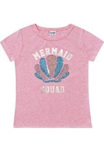 Blusa Infantil Fakini Kids Verão Mermaid Feminina - Feminino
