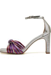 Sandália Trivalle Shoes Metal Nó Colorida