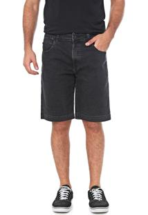 Bermuda Jeans Element Reta Well Preta