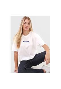 Camiseta Lacoste Logo Branca