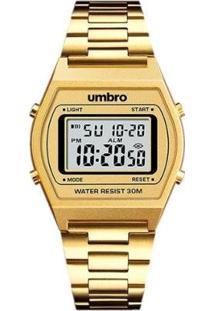 Relógio Digital Umbro Pulseira Metal Clássico - Unissex-Dourado