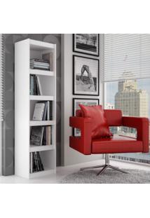 Estante Para Livros 4 Prateleiras Bl13 06 Frame Moderno Brv Móveis Branco