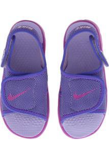 Papete Nike Sunray Adjust 4 Feminina - Infantil - Roxo/Rosa