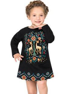 Vestido Infantil Nanai Moletinho Leve 600385.9010.8