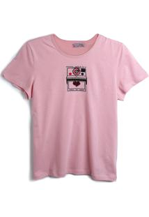 Camiseta Colcci Fun Menina Frontal Rosa