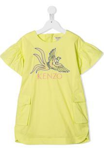 Kenzo Kids Vestido Bordado - Amarelo