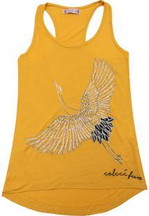 Camiseta Colcci Fun Menina Frontal Amarelo