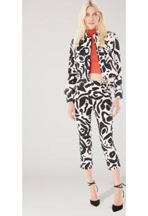 Jaqueta Estampada Animal Print Est Onça Miró Nata Gg