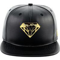 Bone Aba Reta Young Money Snapback Diamante - Unissex-Preto+Dourado 84c998d6a98