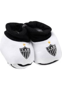 Pantufa Reve D'Or Sport Atlético Mineiro Branca E Preta
