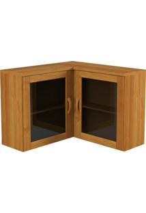 Armário De Cozinha Aéreo Finestra Jade 1313 2 Portas Nogueira