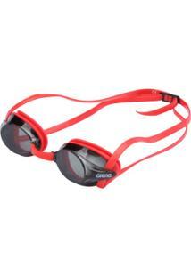 Óculos De Natação Arena Drive 3 - Adulto - Preto/Vermelho