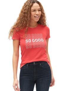 Camiseta Gap So Good Vermelha