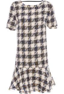 Vestido Tweed Soha - Bege