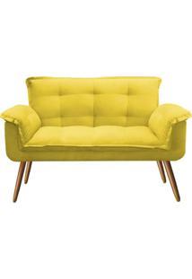 Namoradeira Decorativa Opala Deluxe Suede Amarelo
