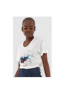 Camiseta Lez A Lez Paetê Off-White