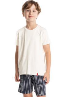 Pijama Infantil Masculino Curto Estampado Cordas