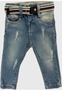 Calça Jeans Skinny Mabu Denim Com Cinto