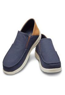 Sapato Crocs Santa Cruz Mens Azul/Marrom.