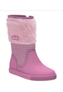 Bota Infantil Cano Alto Barbie Trends Grendene Kids 21748