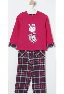 "Pijama ""It'S Ok To Be Different""- Pink & Roxo- Puketpuket"