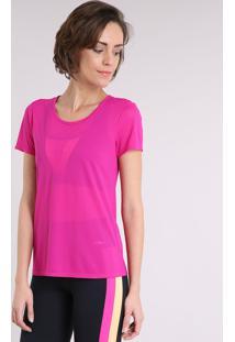59f9e125d8 CEA. Blusa Feminina Esportiva Ace Com Vazado Manga Curta Decote Redondo Pink