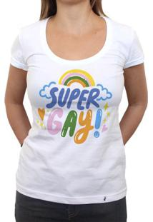 Super Gay - Camiseta Clássica Feminina