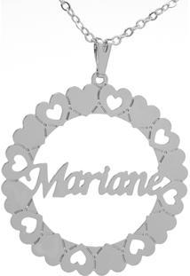 Gargantilha Horus Import Mandala Mariane Banho Prata 1000 - 2060167 - Prata - Feminino - Dafiti