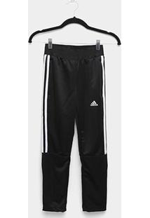 Calça Infantil Adidas Yb Tiro Pant 3S Masculina - Masculino-Preto+Branco