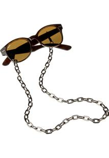 Corrente De Óculos Higher Cadeado Dourada