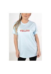 Camiseta Yellou Azul Claro