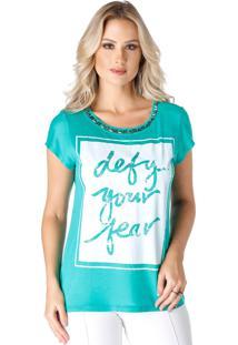 T-Shirt Celestine Estampada Verde