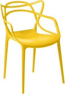 Cadeira Facthus Allegra Sala De Jantar Amarelo - D'Rossi