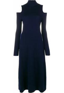 Gabriela Hearst Vestido Silveira De Tricô - Azul