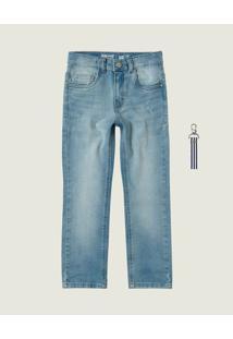Calça Jeans Slim Estonada Menino Malwee Kids Azul Claro - 8