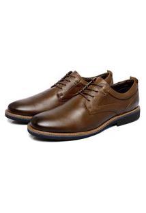 Sapato Social Marrom Em Couro Comfort 9500