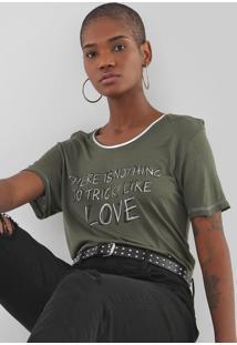 Camiseta Ellus Tricky Love Verde