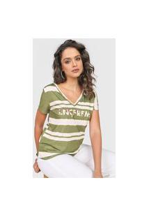 Camiseta Lança Perfume Logo Verde/Bege