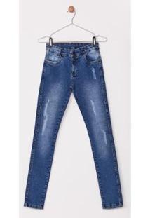 Calça Use Jeans Express Infantil Pluto Masculina - Masculino-Azul