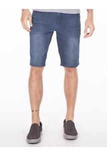 Bermuda Khelf Bermuda Masculina Jeans Azul