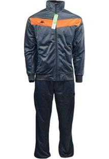 Agasalho Kappa Sportswear Warm Elanca Masculino - Masculino-Cinza