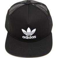 Boné Adidas Originals Trefoil Trucker Preto 8ae92c279be