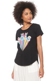 Camiseta Coca-Cola Jeans De Boas Preta