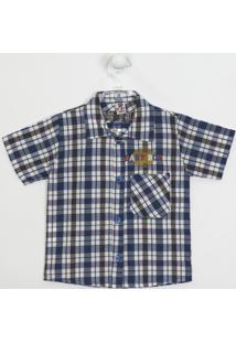 Camisa Bebê Manga Curta Xadrez 2 - Masculino-Xadrez