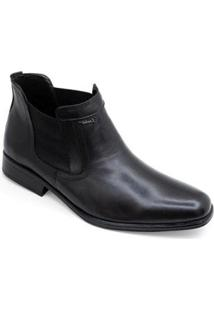 Bota Social Sandalo Bourbon Masculina - Masculino-Preto