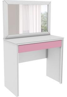 Penteadeira Twister Com Espelho 1 Gv Neve E Quartzo Rosa