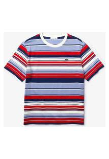 Camiseta Lacoste Relaxed Fit Vermelho