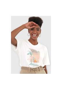 Camiseta Dzarm Horizontes Off-White