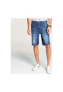 Bermuda Docthos Jeans Com Viscose Middle Bermuda Docthos Jeans Com Viscose Middle 165 Jeans Escuro 38