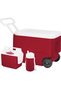Cooler Igloo Igloo Wheelie Vermelho